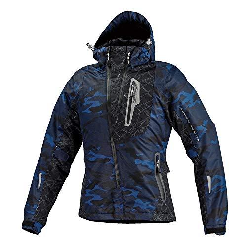 コミネ(KOMINE) バイク用 プロテクトウインターパーカ Blue Camo 2XL JK-589 1132 秋冬春向け 防水 CE規格レベル2 CE規格 防寒 プロテクター