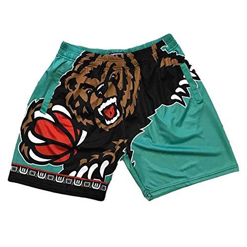 U/A Grizzlies Basketball-Shorts mit gestickten Mesh-Shorts mit Chip Schnelltrocknende Herren-Basketball-Shorts Swingman-Trikot