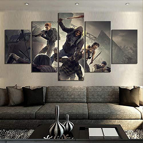 MXLYR HD-Drucke Bilder Startseite 5. Dezember Panel Overkills The Walking Dead Spiel Malerei Leinwand Poster Wandkunst Schlafzimmer