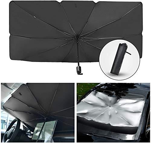 Parasol plegable para parabrisas de coche, cubierta UV, protección interior para ventana frontal, fácil de almacenar (S)