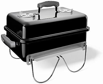 "Weber 121020 Go-Anywhere Charcoal Grill,Black,14.5"" H x 21"" W x 12.25"" L"
