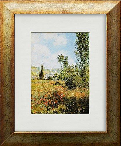 artissimo, Kunstdruck gerahmt, 33x40cm, AG3802, Claude Monet: ILE Saint-Martin II, Bild, Wandbild, Poster, Wanddekoration