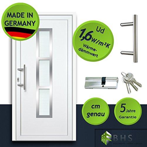 individuelle Haustür (nach Maß, glatt, NEU, PVC, weiß, alles inklusive)