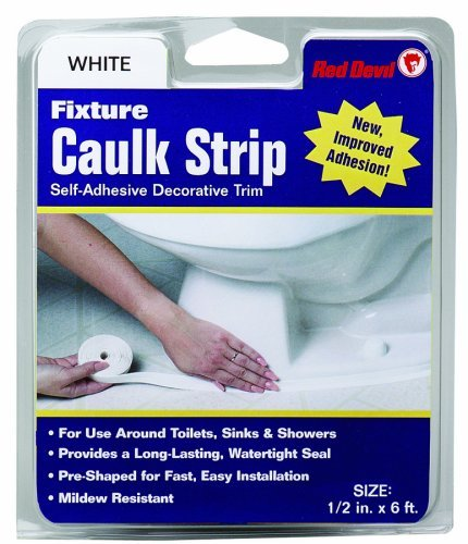 Red Devil 0152 Caulk strip Fixture White 1/2-inch by 6-feet