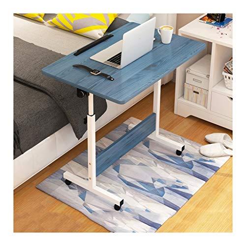 Laptopwagen Laptop Schreibtisch Mobiler Laptoptisch Perfekte Aufbewahrung Einfach Zu Falten Nachttisch verstellbar (Color : Blue Wood)