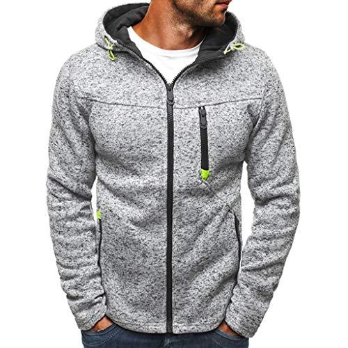 Covermason Homme Sweatshirt avec Capuche Zippé Sweats à Capuche Veste à Capuche Homme à Manches Longues Hauts Manteau