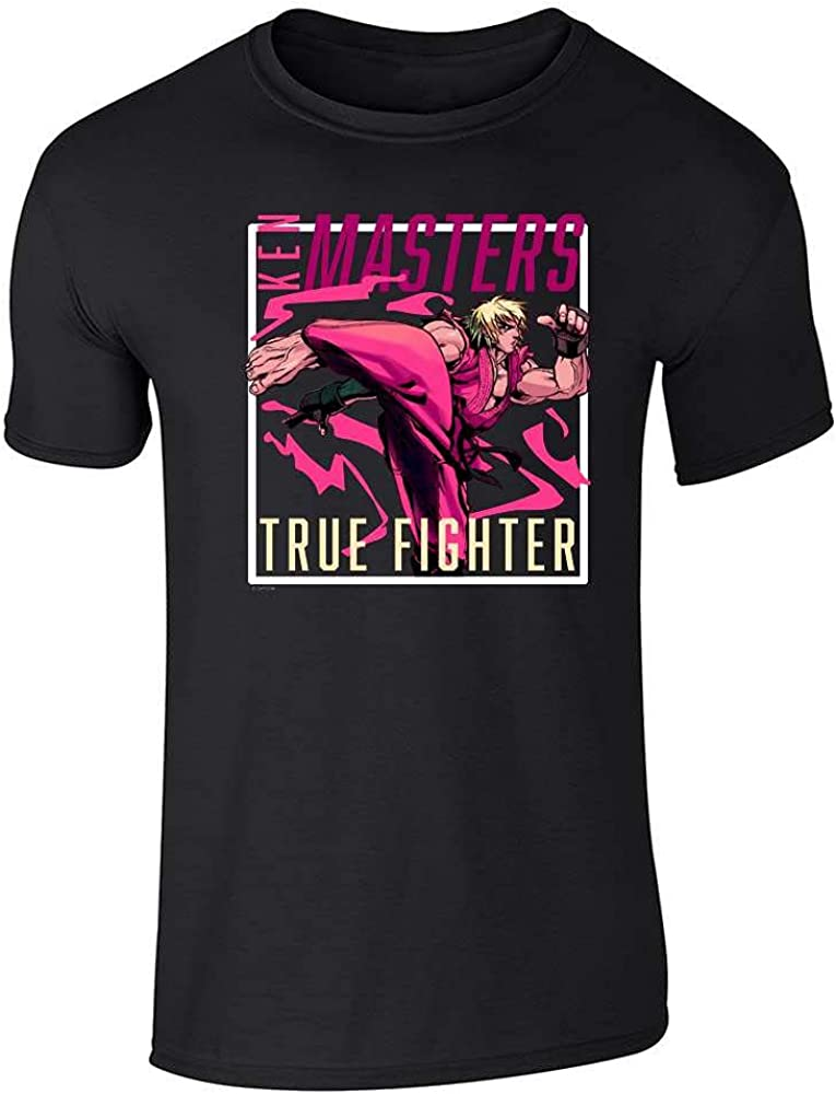 Pop Threads Ken Masters Video Gamer Street Fighter 2 Retro 90s Graphic Tee T-Shirt for Men