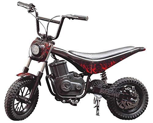Burromax Red LighteningTT350R Electric Motorcycle Dirt Bike for Kids   Fast and Long Lasting 24V 350W Charge   Ride On Mini Pocket Bike 20036
