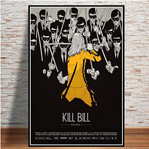 hllhpc Wall Art- Póster e Impresiones Caliente Kill Bill Pulp Fiction película Vintage Pintura Arte Cuadros de Pared para la decoración de la colección del hogar de la Sala de Estar