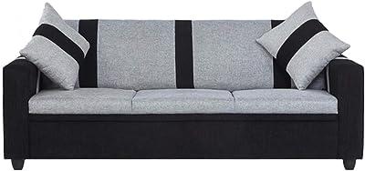 CasaStyle Casalife 3 Seater Fabric Sofa (Grey-Black)