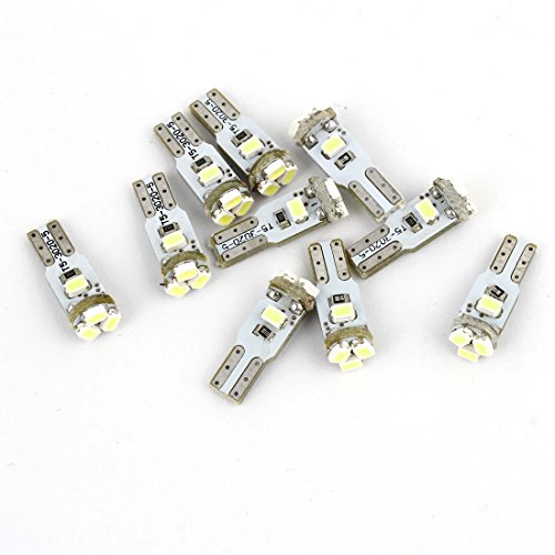 Sourcingmap 10 Pcs 5 3020 LED T5 Ampoule Blanche Camion Van Lampe du Tableau de Bord Intérieur