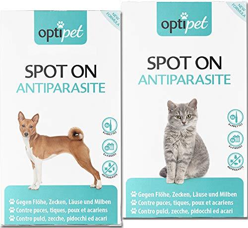 OptiPet je 6X Pipetten Spot On Für Katzen und Hunde