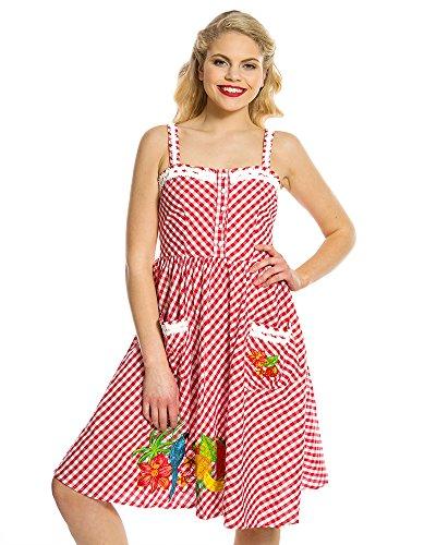 Lindy Bop Damen Kleid Rot rot Gr. 52, rot