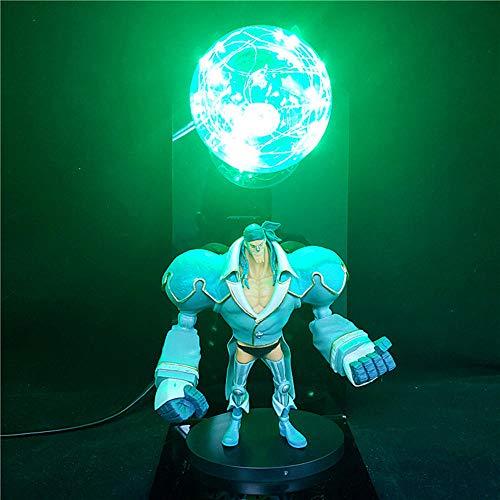 3D Anime One Piece Figura Luz de noche Luffy Zoro Hancock Franky Lámpara de mesa creativa de 7 colores Luz decorativa de noche, niños y niñas Colección de luz LED de noche Modelo Juguetes Estatua
