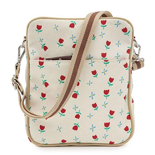 Pink Lining Out und About Mini Messenger creme Schmetterlinge Wickeltaschen (Marineblau)
