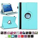 NAmobile Schutzhülle kompatibel für Huawei MediaPad T1 T2 T3 T5 10 Tablet Hülle Tasche Schutzhülle Case 360 Drehbar, Farben:Türkis