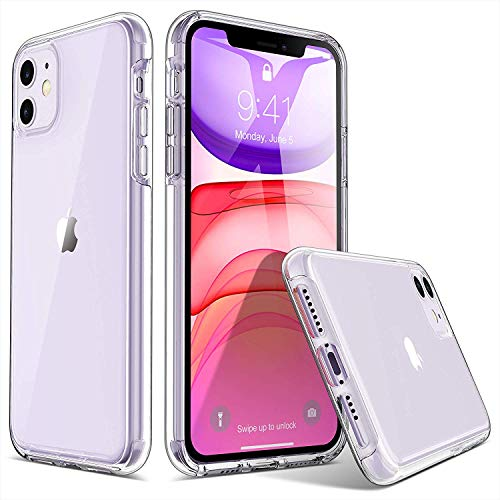 ULAK Compatible with iPhone 11 6.1 inch (2019) Case Clear Slim Protective Phone Cover