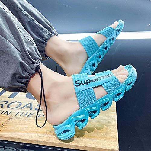 YYFF Zapatillas de Estar por Casa,Zapatos de Playa Transpirables al Aire Libre,Moda Hombre Sand-1 Ice Blue_43,Sandalia Mujer