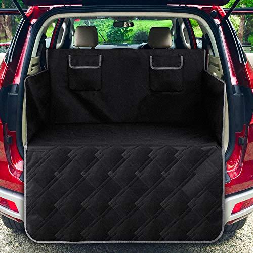 Femor achterbank beschermhoes voor honden, hoogwaardig materiaal beschermt uw autostoel, ideaal voor het vervoer van dieren, Rücksitz2