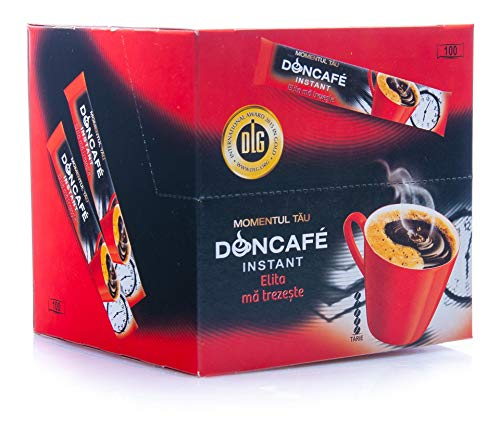Doncafé Elita Instant Cafe - Löslicher Bohnenkaffee (100 Sticks à 1,8 g)