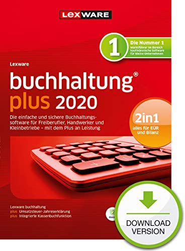 buchhaltung plus 2020 Download Jahresversion (365-Tage) PC Aktivierungscode per Email
