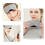 Heated Eye mask - VINDAR Cotton Eye Mask, Warming Night Massage Mask, Electric USB Heated Hot Pads, Adjustable Temperature Control, Designed to Relieve for Blepharitis, Dry, Stress, Puffy Eyes