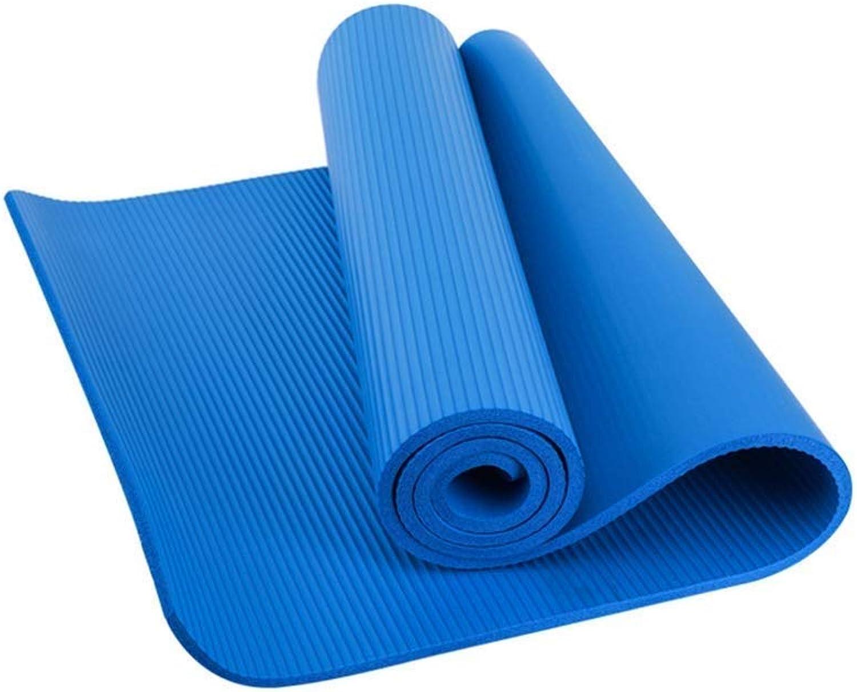 WZHYOGAMAT Outdoor-Yoga-Matte NBR Rutschfeste Verbreiterte Verdickung Sport-Fitnessmatte Multi-Farbe Gre Optional (Farbe   D, gre   183  80  1CM)