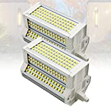 6000K Tipo J de Doble Extremo 118 mm R7S Luz LED 50W LED R7S 500W Halógena R7s Bombilla de luz de Repuesto J118 Reflector LED LED R7S Bombilla de maíz para Aplique de Pared(2-PC)