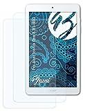 Bruni Schutzfolie kompatibel mit Acer Iconia One 8 B1-850 Folie, glasklare Bildschirmschutzfolie (2X)