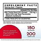 Jarrow Formulas Milk Thistle 150 mg - 200 Veggie Capsules - Antioxidant Supporting Immune Response, Liver Function & Glutathione - Up to 200 Servings #1