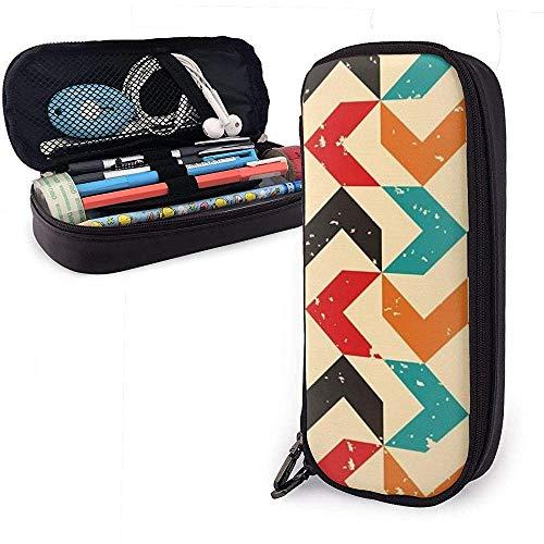 Farbige Bumerang PU Leder Tasche Aufbewahrungsbeutel Tragbare Student Bleistift Büro Schreibwaren Tasche Reißverschluss Geldbörsen Make-up Multifunktionstasche
