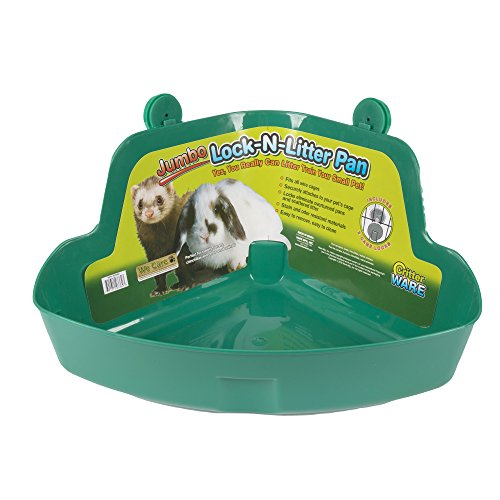 Ware Manufacturing Plastic Lock-N-Litter Bigger Pan for Small Pets, Jumbo - Colors May Vary