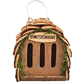 Gardigo Schmetterlingshaus zur Schmetterlingszucht und Gartendeko I Insektenhaus für Schmetterling aus FSC Holz zum Aufhängen