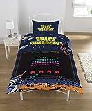 Space Invaders - Juego de Funda nórdica (polialgodón, tamaño Individual)