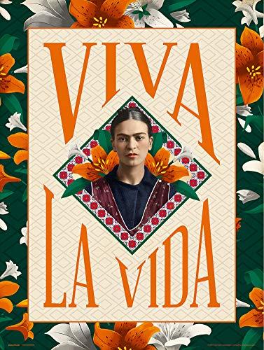 Grupo Erik Print Frida Kahlo Viva la Vida, multicolore, 30 x 40 cm