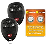 Suzuki XL-7 Alarm Systems - Discount Keyless Replacement Keyless Entry Remote Key Fob Car Compatible with OUC60270, 15913421 (2 Pack)