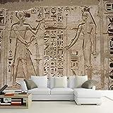 1 Tamaño personalizado Amy Tamaño Mural Papel pintado 3D Antiguo Pirámide Egipcia Piedra Pintura de Pared Estilo Europeo Retro Restaurante 3D Fresco @ 250 * 175 cm