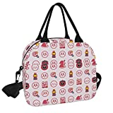 Kirby Reusable Insulated Cooler Lunch Bag - Freezable Tote Picnic bag Organizer with Adjustable Shoulder Strap - Portable Lunch Box for Office Work Workout Travel