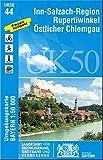 UK50-44 Inn-Salzach-Region, Rupertiwinkel, Östlicher Chiemgau: Mühldorf a.Inn, Töging a.Inn, Trostberg, Tittmoning, Laufen, Traunreut, Freilassing, ... Karte Freizeitkarte Wanderkarte)