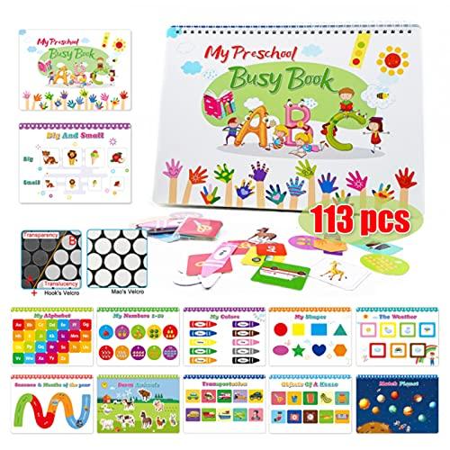 LZDMY Gioco Montessori Libro Puzzle in Velcro da 2, 3, 4 Anni | Gioco di Viaggio Puzzle per Bambini Piccoli | Giocattoli per Bambini Holiday Traveler | Libro Occupato Prescolare (113 Pz)