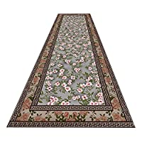 LXF 廊下敷きカーペット 全体的に花柄のボーダーデザインの伝統的なビンテージランナーカーペット-廊下のリビングルームの寝室のオリエンタルラグ (Color : 0.7cm, Size : 120×350cm)