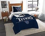 NORTHWEST NFL Tennessee Titans Comforter and Sham Set, Twin, Draft