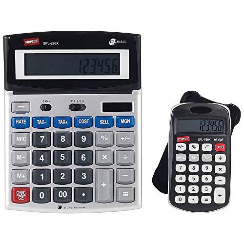Heftklammern 2Pack Taschenrechner. spl-290X 12Digit Calculator-Desktop und spl-150X -Pocket