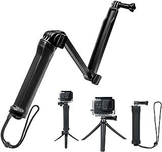 【HITEI】 GoPro アクセサリー 自撮り棒 防水 GoPro hero7/hero6/hero5/hero4/muson 対応 三脚 一脚 折り畳み ゴープロ セルカ棒 アングル調整可能