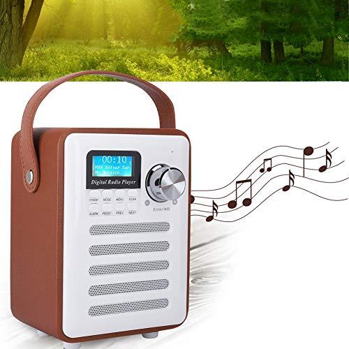 Zunate Radio,Mini tragbare DAB/DAB + FM Wi Fi Digitales Internetradio Bluetooth Kabellose Multifunktional Lautsprecher Mobiles DAB Digitalradio 87.5-108MHz,können 10 UKW und 10 DAB Kanäle speichern