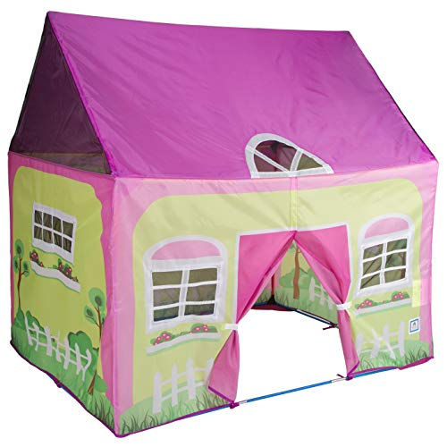 "Pacific Play Tents 60601 Kids Cottage Play House, Play Tent for Indoor / Outdoor Play - 50"" x 40"" x 50"""