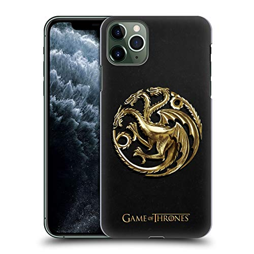 Head Case Designs Officially Licensed HBO Game of Thrones Gold Targaryen Embossed Sigils Hard Back Case Compatible with Apple iPhone 11 Pro Max