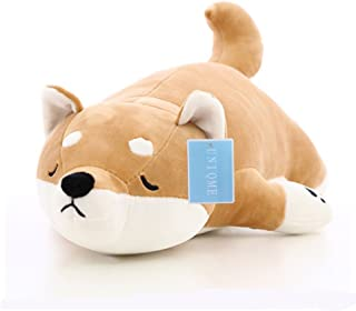 "UNIQME Dog Plush Doll Stuffed Shiba Inu 3D Animal Zoo Pet Throw Pillow Bed Nursery Decoration Baby Play Toy Puppy Shape Sleeping Pillow Gift for Girl Boy 21.6"" (21.6 inch)"