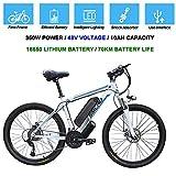 Hyuhome Biciclette elettriche per Gli Adulti, 360W Lega di Alluminio-Bici della Bicicletta Removibile 48V / 10 Ah agli ioni di Litio della Bici di Montagna/Commute Ebike,White Blue