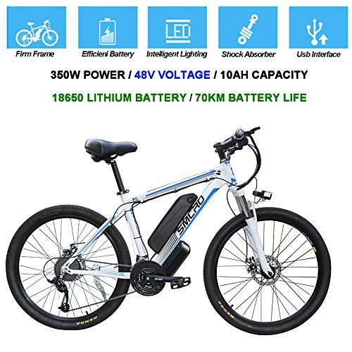 Hyuhome Vélos électriques pour Adultes, 360W en Alliage d'aluminium Ebike vélos Amovible 48V / 10Ah Lithium-ION...